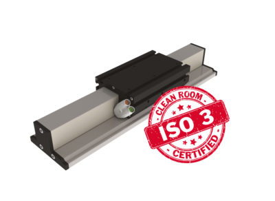 MLE2 clean room linear motor unit from sinadrives. ISO3 certificate. Clean room.