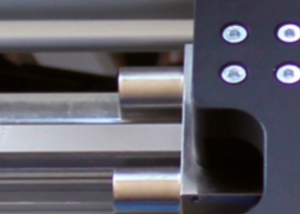 Brake from a linear motor axis. Sinadrives produces linear motor stages with direct drive.