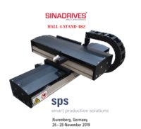 Sinadrives linear motor stages on sps fair. Our direct driven linear motor axes provide fast and precise positioning.