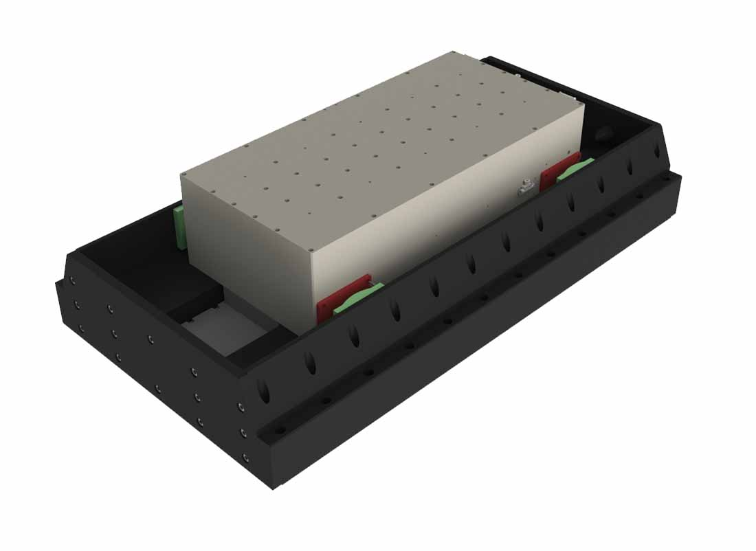 Linear motor stage with air bearing